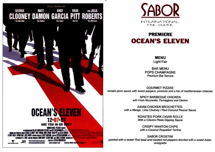Oceans 11 Premiere